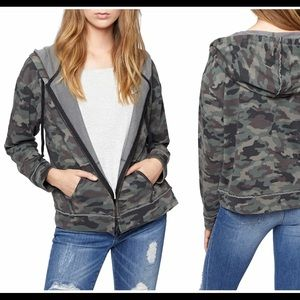 Sanctuary Camo Hoodie Jacket/Sweatshirt